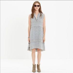 Madewell Willow leaf shirt dress
